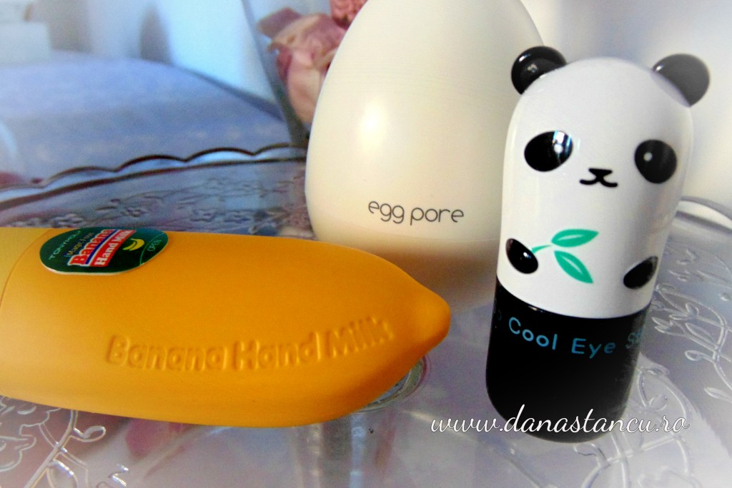 tony moly eye stick, banana cream, egg pore
